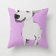 Whippet smile Throw Pillow