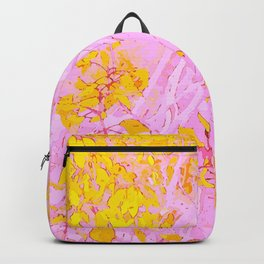 Birch branches in pink and gold Backpack