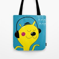 dj Tote Bags featuring dj by Sucoco