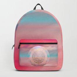 """""""Rose quartz sky on beach shore"""" Backpack"""