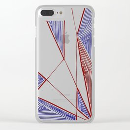 Triangles perspective colored ink-pen drawing Clear iPhone Case