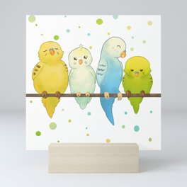 The Budgie Bunch Mini Art Print
