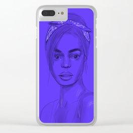 Joan in purple Clear iPhone Case