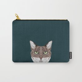 Sidney - Tabby Cat gifts for cat lovers cat ladies and cat person gifts perfect cat cell phone case Carry-All Pouch