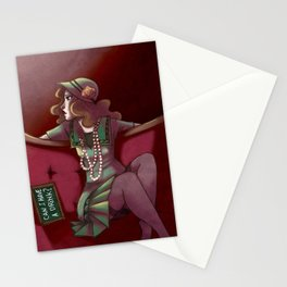 30's girl Stationery Cards