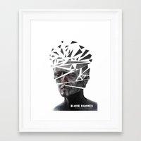 blade runner Framed Art Prints featuring Blade Runner by Andy Pugh