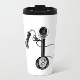 Old telephone Travel Mug