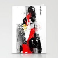 senna Stationery Cards featuring AYRTON SENNA MP4-4 by Michele Leonello