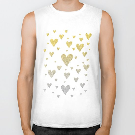 Glitter Hearts Biker Tank
