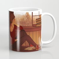 grantaire Mugs featuring Enjolras & Grantaire by rdjpwns