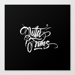 Letter Forms Canvas Print