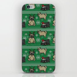 CHRISTMAS PUG iPhone Skin