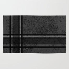 Grungy Grey Plaid Rug