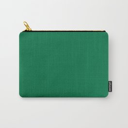 Classic Dark Green Solid Color Pairs To Sherwin Williams Greenbelt SW 6927 Carry-All Pouch