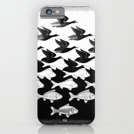 Maurits Cornelis Escher - Sky and Water 1 iPhone Case