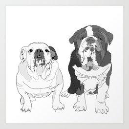 English Bulldog Brothers Art Print