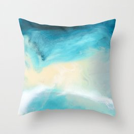 """Swakopmund"" Resin Seascape coastal art, Africa coast in Namibia Throw Pillow"