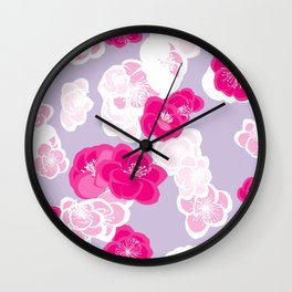 Quince flower pattern 2c Wall Clock