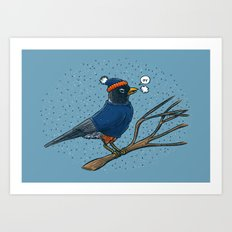 Annoyed IL Birds: The Robin Art Print