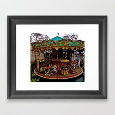 Merry Go Round Paree Framed Art Print