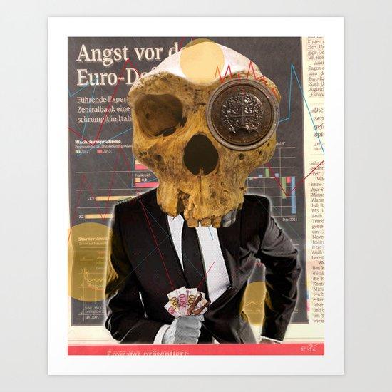 Financial business... Art Print