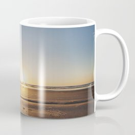 Beach Walk at Sunrise Coffee Mug
