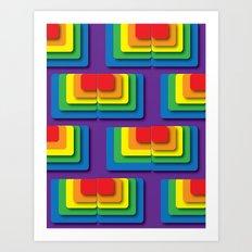 Rainbow Squere Art Print