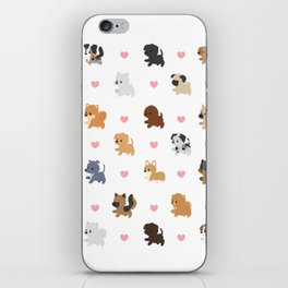 Dog Breeds with Hearts iPhone Skin