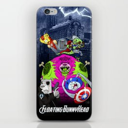 Floating BunnyHead + Avengers iPhone Skin