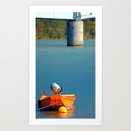 Boat on the river | landscape photography Art Print