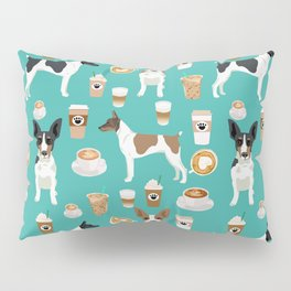 Rat Terrier coffee dog breed pet portrait dog pattern dog breeds gifts for dog lovers Pillow Sham