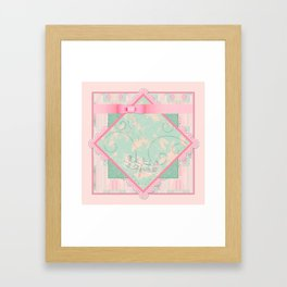 Button and Bows Framed Art Print