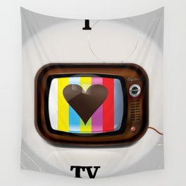 I Love TV vintage poster Wall Tapestry