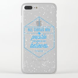 Mark 9:23 Clear iPhone Case
