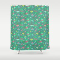 dino Shower Curtains featuring Dino ballet by Anna Alekseeva kostolom3000