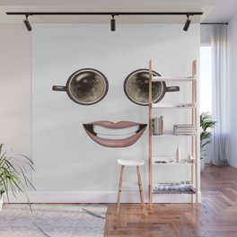Funny Coffee Time Wall Mural