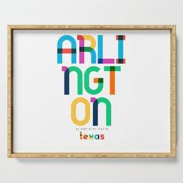 Arlington Texas Mid Century, Pop Art, Mondrian Serving Tray