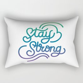Stay Strong motivational quote lettering in original calligraphic style Rectangular Pillow