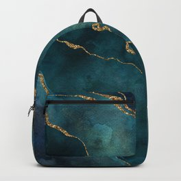 Golden Gemstone Glamour Mineral Backpack