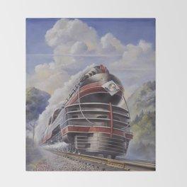 Lehigh Valley Railroad - The John Wilkes Throw Blanket
