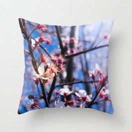 Blooming spring Throw Pillow