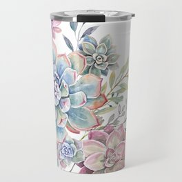 succulent watercolor 6 Travel Mug