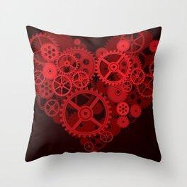 Steampunk - Heart Throw Pillow