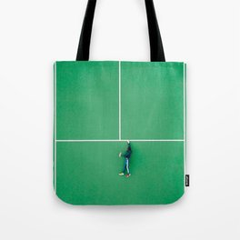 Tennis court green Tote Bag