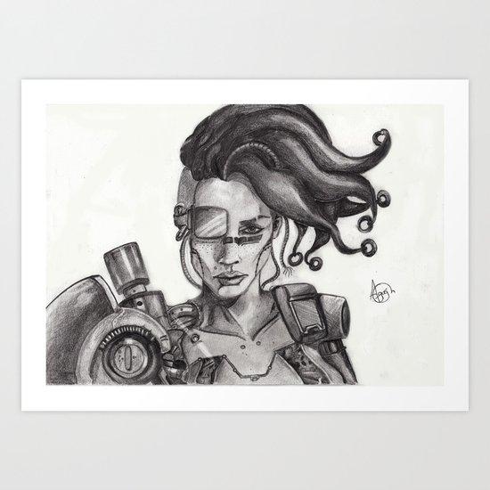 Miss Cyborg Art Print