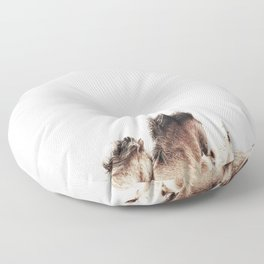 WILD AND FREE 2 - HORSES OF ICELAND Floor Pillow