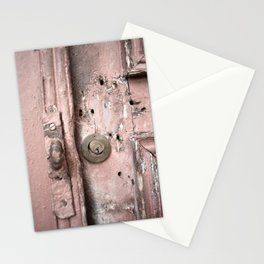 Pink Rusty Door Stationery Cards