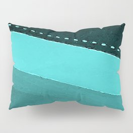 Blue and Black Stripes: Dotted Line Pillow Sham