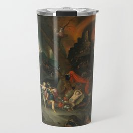 aeneas and the sibyl in the eye's underworld Travel Mug
