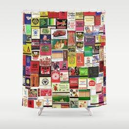 Antique Matchbooks Shower Curtain
